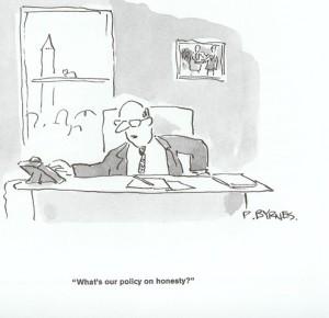 ¿Cuál es su política en cuanto a la honestidad?